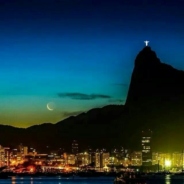 Rio de Janeiro, Brazil…to night…beautiful.  I love my city! ♡♡♡