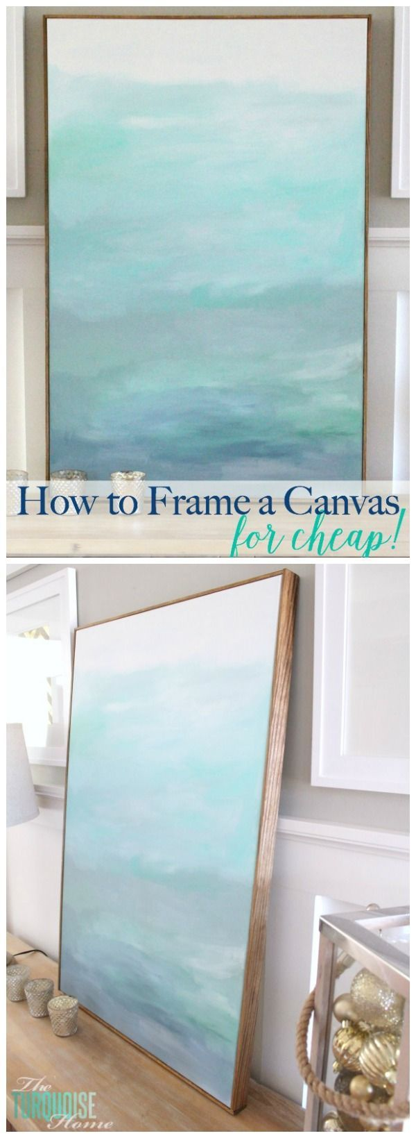 an easy and inexpensive way to frame out a canvas.