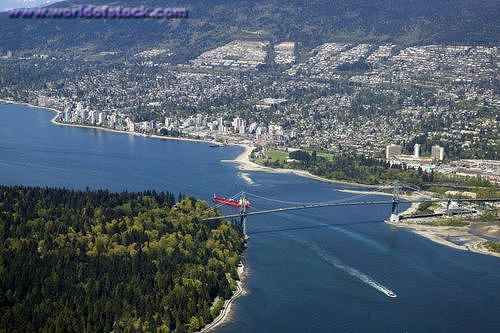 Stanley Park and West Vancouver (Lions Gate Bridge)