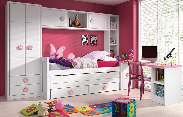 Mueble con puente y cama compacta de la firma palacio for Mueble puente juvenil