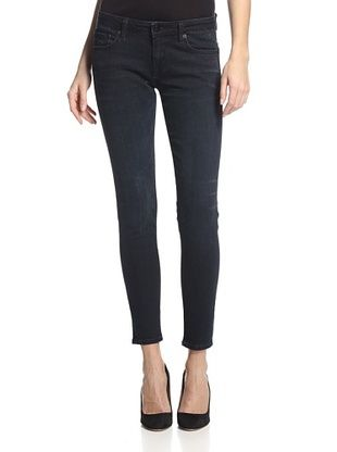 56% OFF D-ID Women's Florence Ankle Skinny Jean (Blue/Black)