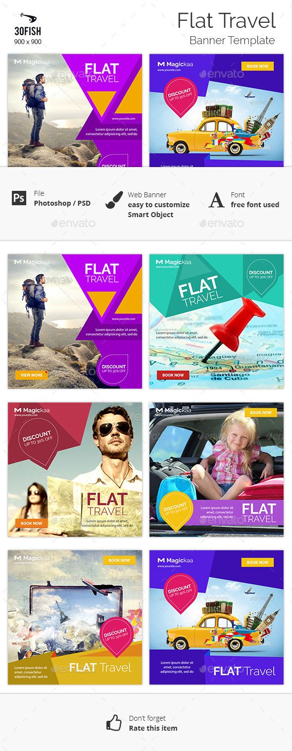 Flat Travel banner Template #design Download: http://graphicriver.net/item/flat-travel-banner/12454662?ref=ksioks