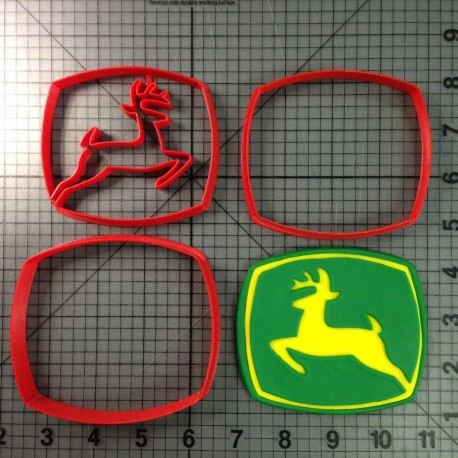 John Deere Logo Cookie Cutter Set JBCookieCutters.com