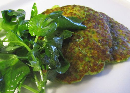 Spring Pea and Crab Pancakes with Pea Tendril Salad, a recipe on Food52
