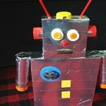 how to make a simple robot out of household items