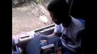 pengrajin batu manado - YouTube