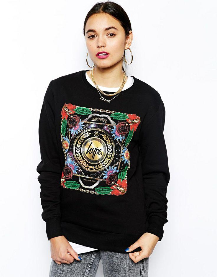 Hype | Hype Sweatshirt With Varsity Back Print at ASOS