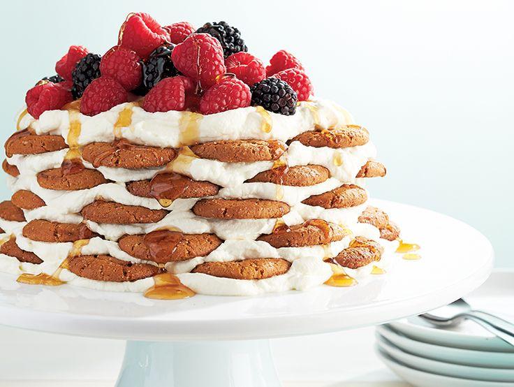 3 desserts faciles pour l'Action de grâce-----  -Gâteau aux biscuits au gingembre et aux épices