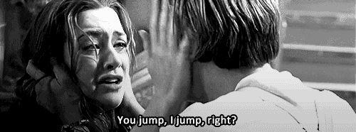 Tu saltas yo saltó cierto