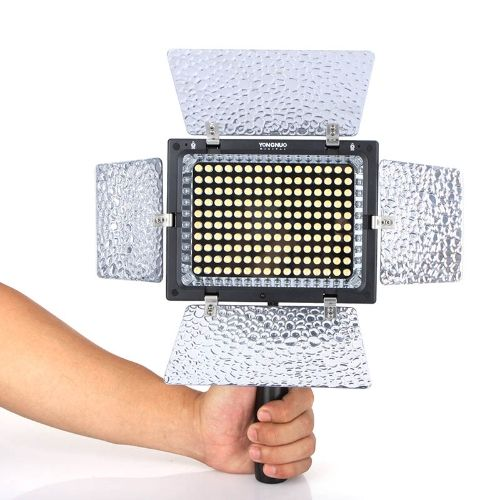 Yongnuo YN-160 II LED Video Light Lamp with Condenser MIC for Canon Nikon Pentax Camera DV Camcorder  Remote Control