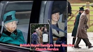 British Royal Family Attended New Year Eve 2018 Church Service at Sandringham  SHOWBIZ GOSSIP