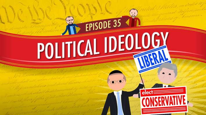 In this episode, we look at political ideology in America. We're going to focus on liberals and conservatives and talk about the influencers of both of these viewpoints. It's important to remember that political ideologies don't always perfectly correspond with political parties, and this correspondence becomes less and less likely over time. Engage with the Crash Course community and subscribe to new videos on YouTube.