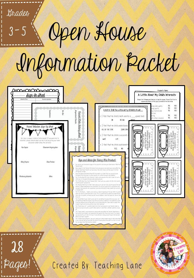 28 editable forms for your Open House / Meet the Teacher Needs!