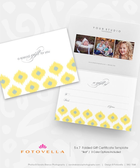 Photographer Gift Certificate Template - Photography Marketing - business certificate templates