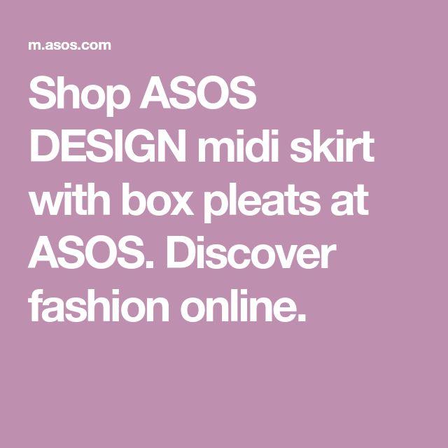 66e338bcb00d4 DESIGN midi skirt with box pleats