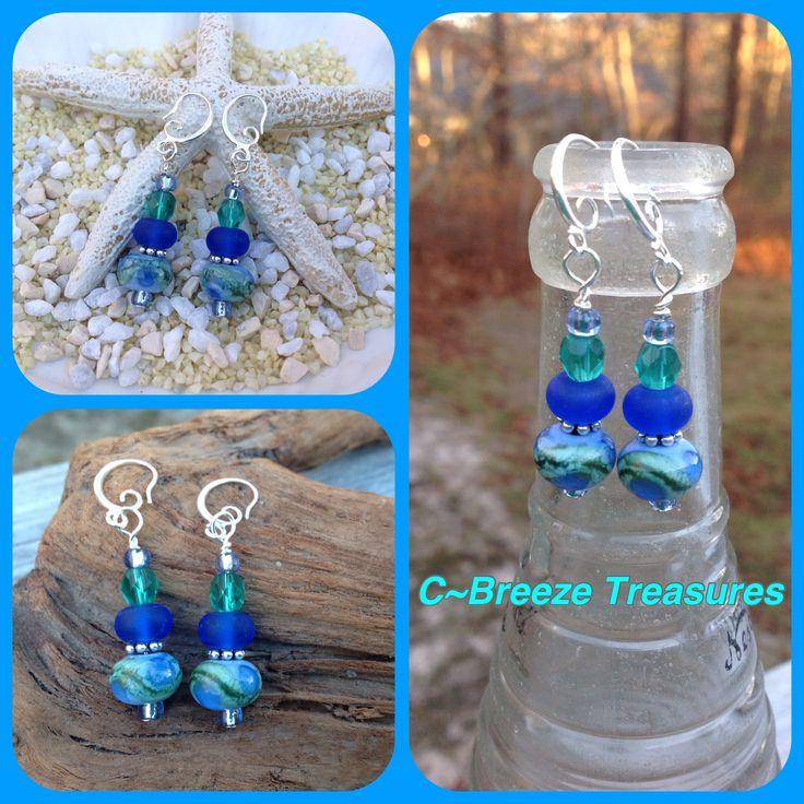 Lampwork Dangle Earrings Handcrafted by C~Breeze Treasures