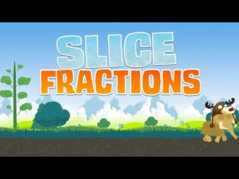 Slice Fractions - Math puzzle game - YouTube