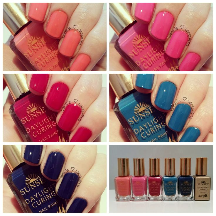 Barry M Sunset Daylight Curing Polish Swatches