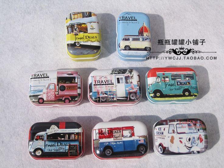 ALL KIND OF CAR DESIGN Printing Mini Pill Case Collectable mini Box Diy storage box Small lipstick case small tin box 32pcs/box