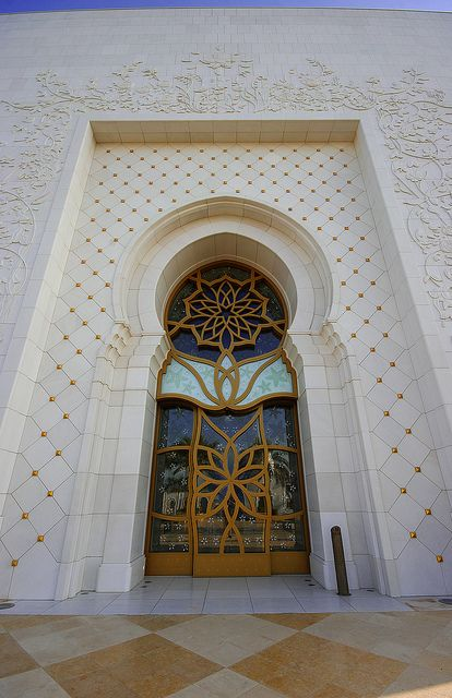 Grand Mosque Door, via Flickr.