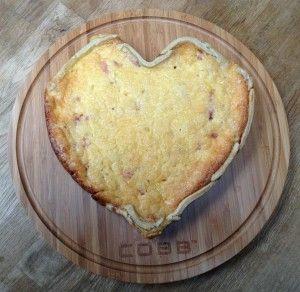 Quiche lorraine gemaakt op de Cobb - hartige taart voor Valentijnsdag!