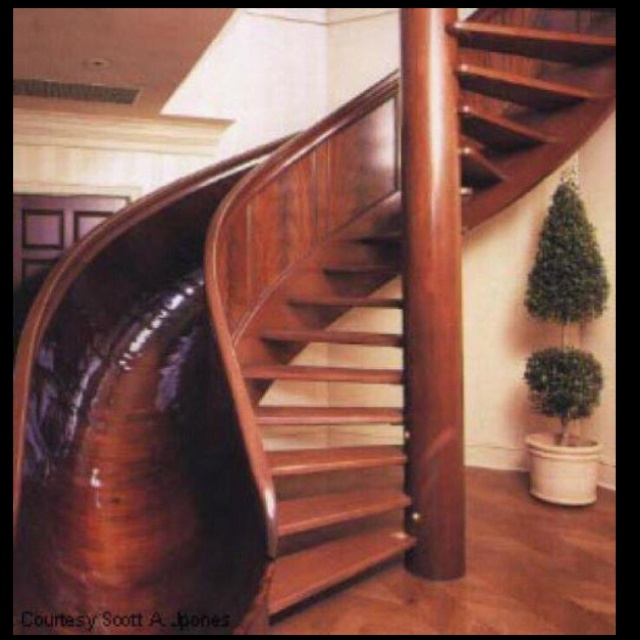 Coolest thing EVER!!Ideas, Spirals Staircases, Spiral Stairs, Sliding Stairs, Dreams House, Future House, Stairs Sliding, Dream Houses, Spiral Staircases