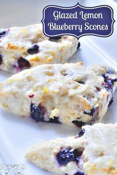 Delicious Glazed Lemon BlueBerry Scones {The Love Nerds}
