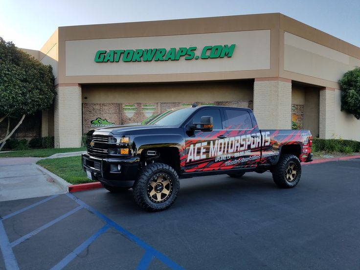 Check out the Ace Motorsports - Chevy Silverado - Partial Wrap ! Gatorwraps, the leading provider of all vehicle wraps. Request a quote directly on our website!
