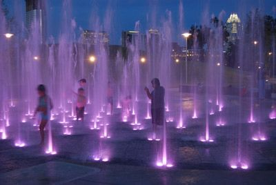 Keep the fun going all night with our LED Splashpads!   #SplashpadsUSA #SPUSA #Splashpads #Splashpad #LEDsplashpad