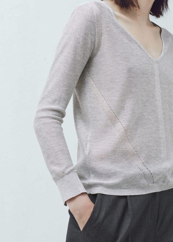 Metallic-pullover - Cardigans und pullover für Damen | MANGO