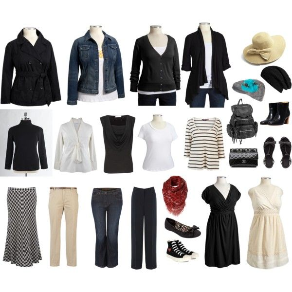 Plus Sized Black & White Mix & Match Wardrobe