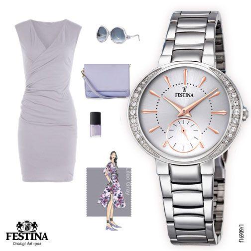 Lilac Grey, la nuance pantone del momento: quale orologio Festina lo abbinereste a questo look?