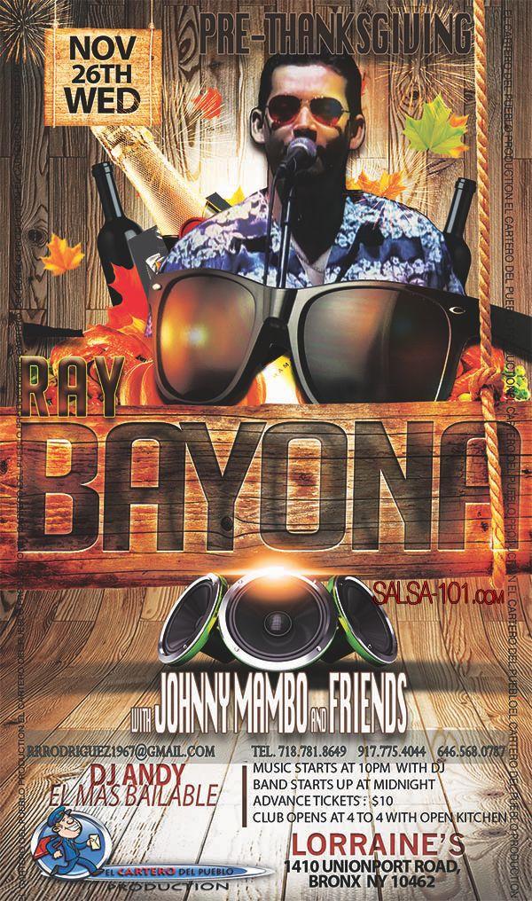El CARTERO-Thanksgiving-2- musica de salsa y Ray Bayona.. AQUI >>  http://www.salsa-101.com/ray-bayona-pre-thanksgiving-day-dance-2014/