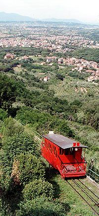 Rode this Funicular up to Montecantini Alto... the old part of this Italian town.  Old wooden car up an old railway.  Totally worth the ride!