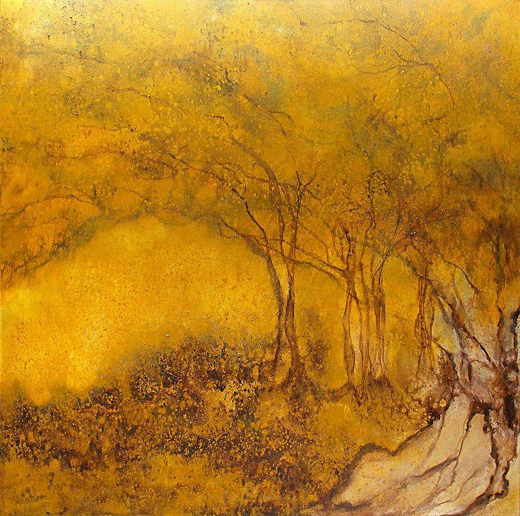 In dusk of wandering...100x100cm acrylic canvas