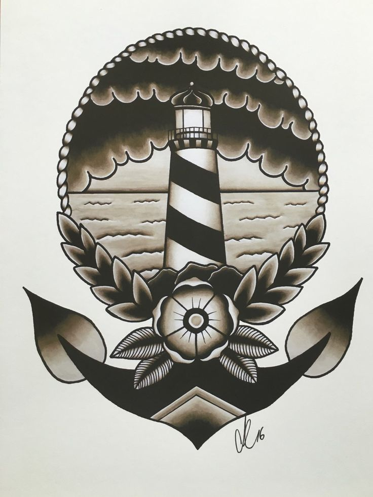 Traditional Lighthouse by napiks on Etsy