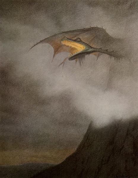 Dragon Awakens - Kittelsen Theodor Severin