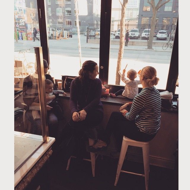 Enjoying the day with loved ones!  #babyatplay #family #mommy #love #nutella #pastry #espresso #dessert #416 #toronto