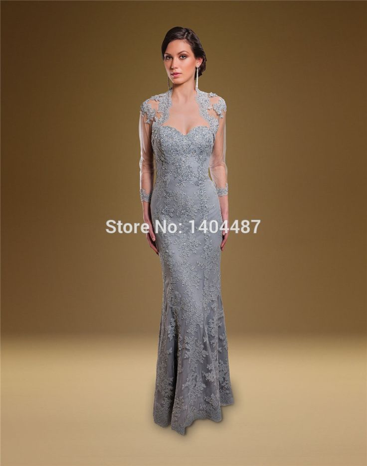 Aliexpress.com : Buy Robe Mere De La Mariee 2016 Mother Of The Bride In Lace Sequined Brides Mother Dresses For Weddings Gray Dress With Lace Jacket from Reliable dress victorian suppliers on ModaBelle Bridal  | Alibaba Group
