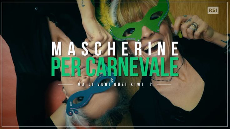 """Festa in maschera? Ecco che per carnevale o per una festa a tema vi vengono in aiuto Carolina e Valentina con questo """"kiwi-tutorial""""www.rsi.ch/kiwi"""