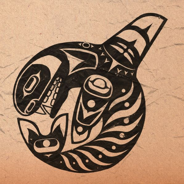 Pacific northwest orca tattoo pinterest tattoo for Native american tattoo artist seattle