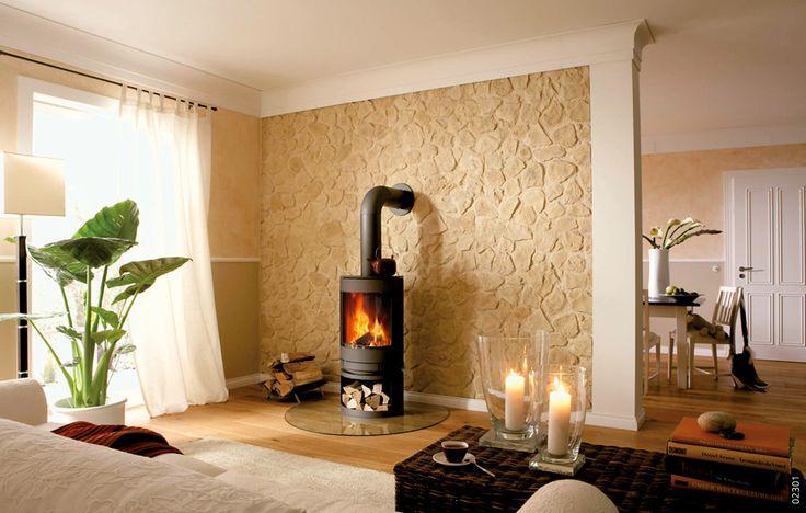 33 besten kamin mit steinoptik bilder auf pinterest raumgestaltung w nde und steinplatten. Black Bedroom Furniture Sets. Home Design Ideas