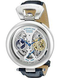Stuhrling Original Men's 127A.3315C2 Emperor's Grandeur Analog Automatic Self Wind Blue Leather Watch  http://amzn.to/2mQOQhy