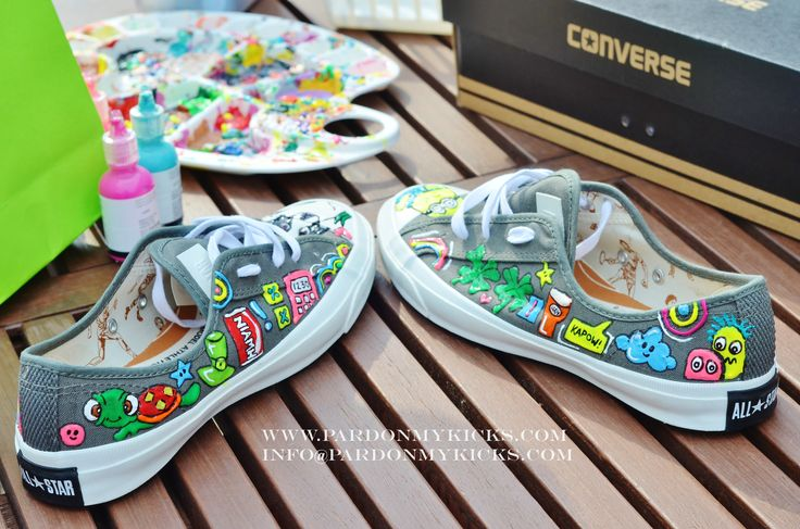 Do you have a specific pair of shoes you want hand painted? No problem. Contact us and we will be glad to deliver. No, literally, we will deliver anywhere in the world WWW.PARDONMYKICKS.COM INFO@PARDONMYKICKS.COM  @portfoliobox