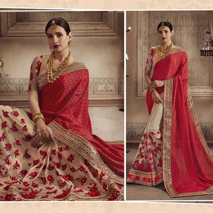 indian embroidery wedding bridal party bollywood designer pakistani saree sari #Shoppingover #Saree
