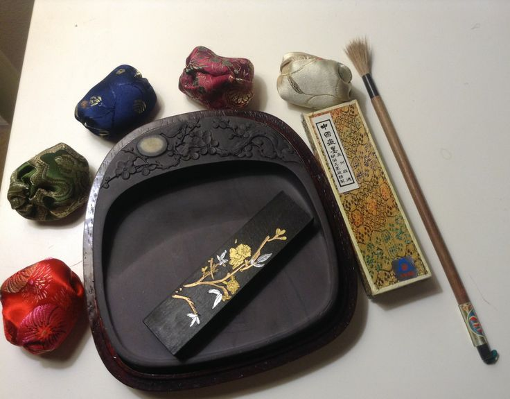 2/17. Got the Chinese calligraphy set (inkstone, inkstick, & brush) for a long time. Need to put them to immediate use!