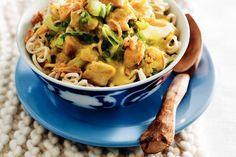 Kijk wat een lekker recept ik heb gevonden op Allerhande! Noedels met kip en chinese kool