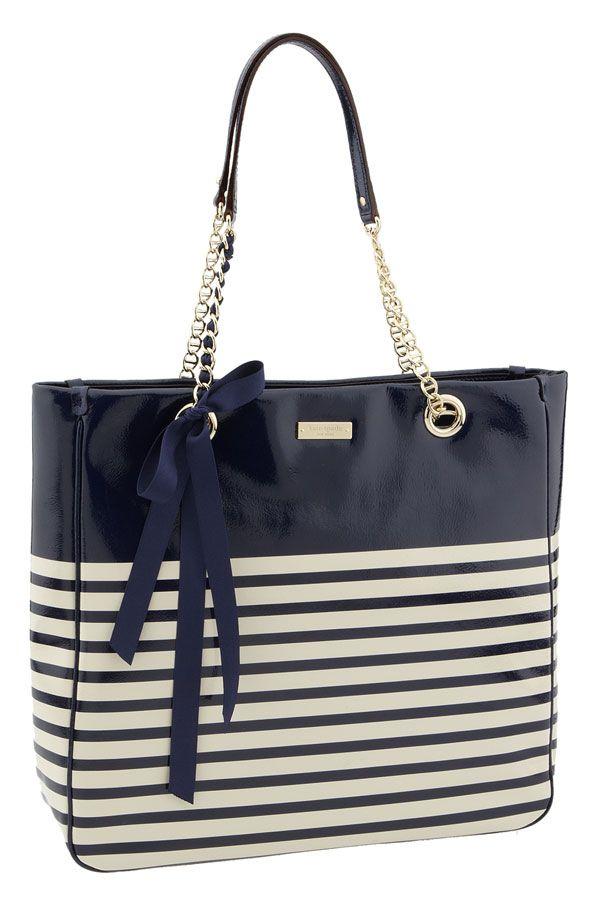 Kate Spade 'Watch Hill' Striped Shopper :  handbag kate spade purse tote