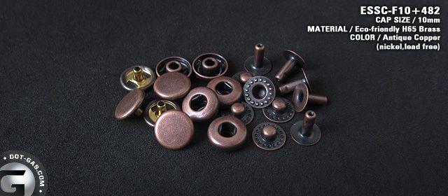 small antique snap button
