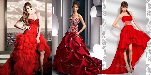 Сон свадебное платье темно красное